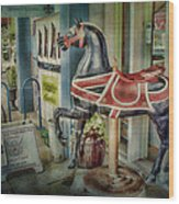Carousel Hourse Wood Print by Jeff Swanson