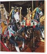 Carousel In Florence Italy Wood Print