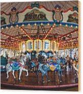 Carousel Ride Wood Print