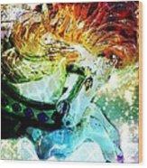 Carousel Sparkle Wood Print