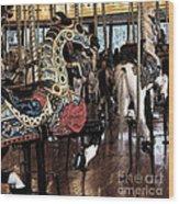 Carousel War Horse Wood Print