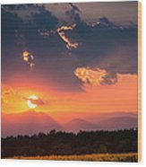 Carpathian Sunset Wood Print