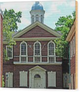Carpenters Hall In Philadephia Wood Print