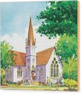 Carpinteria Valley Baptist Church Wood Print