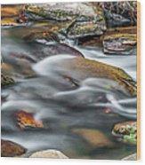 Carreck Creek Cascades Wood Print