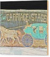 Carriage And Stagecoach Color Invert Wood Print