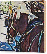 Carriage Horse Wood Print