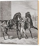 Carriage Horses For The King Wood Print