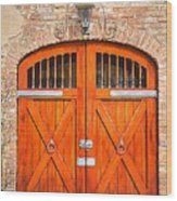 Carriage House Doors Wood Print
