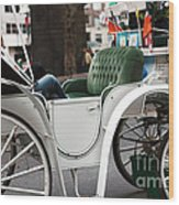 Carriage Ride In Central Park Wood Print by John Rizzuto