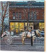 Carriage Ride Wood Print by Baywest Imaging