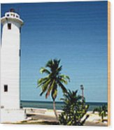 Carribbean Lighthouse Wood Print