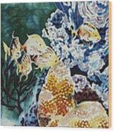 Carribean Currents Poster Wood Print