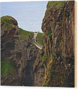 Carrick-a-rede Bridge IIi Wood Print