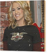 Carrie Underwood Wood Print