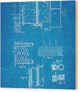 Carrier Air Conditioning Patent Art 1906 Blueprint Wood Print