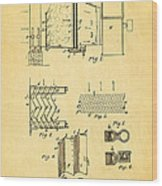 Carrier Air Conditioning Patent Art 1906 Wood Print