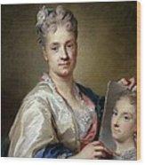 Carriera Rosalba, Self-portrait, 1715 Wood Print