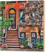Carrie's Place - Sex And The City Wood Print