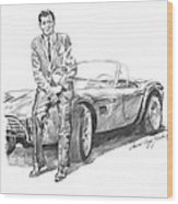 Carroll Shelby And Csx 2000 Wood Print