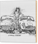 Carroll Shelby And The Cobras Wood Print