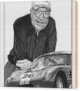 Carroll Shelby    Rest In Peace Wood Print