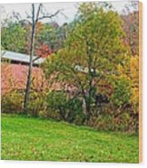 Carrollton Covered Bridge 2 Wood Print