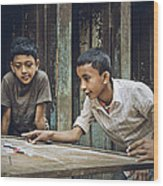 Carrom Boys Wood Print