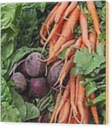 Carrots And Beets Wood Print