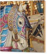 Carrousel 18 Wood Print