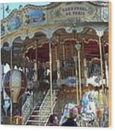Carrousel De Paris Wood Print