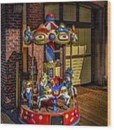 Carrousel Wood Print