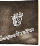Carrozzeria Boano Emblem Wood Print