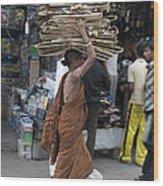 Carrying Cardboard Wood Print