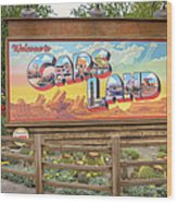 Cars Land Wood Print