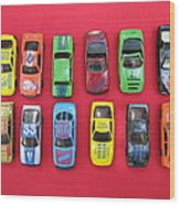Cars On The Wall Wood Print