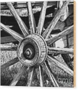 Cart Wheel Wood Print