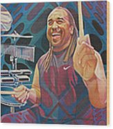 Carter Beauford-op Series Wood Print