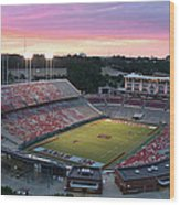 Carter-finley Stadium Wood Print by Elevated Perspectives LLC