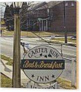 Carter Run Inn 1 Wood Print