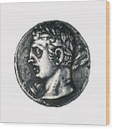 Carthaginian Coin. Minted In Spain Wood Print