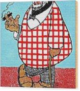 Cartoon 05 Wood Print by Svetlana Sewell