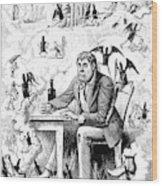 Cartoon Alcoholism, 1874 Wood Print