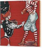 Cartoon Football, 1901 Wood Print