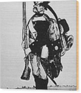 Cartoon: Hessian Soldier Wood Print