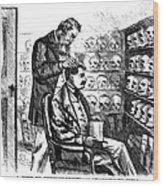 Cartoon: Phrenology, 1865 Wood Print