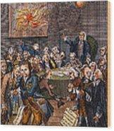 Cartoon: Politicians Wood Print
