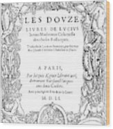 Cartouche, 1551 Wood Print