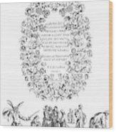 Cartouche, 1635 Wood Print