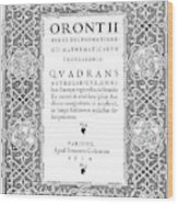 Cartouches, 1534 Wood Print